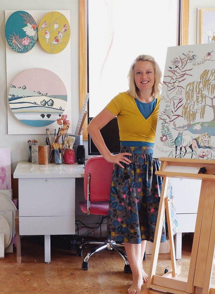 Katrina Berg in her studio