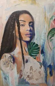 Serene black woman