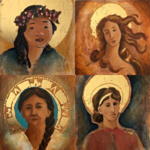 Four Paintings of Heavenly Mother