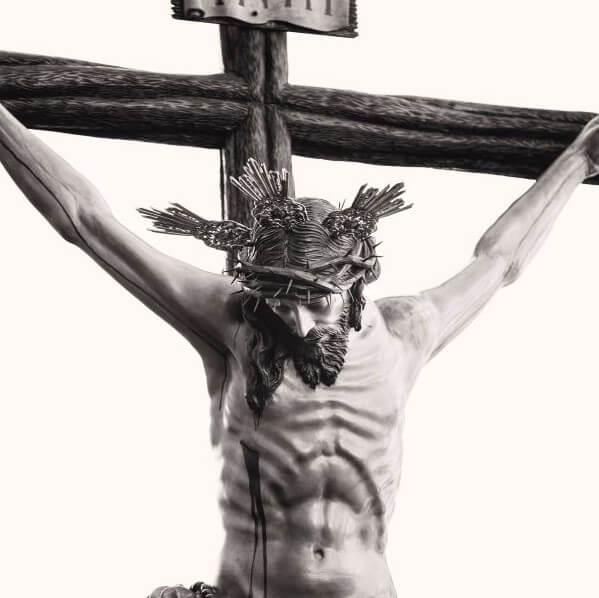 Sculpture of Christ on cross