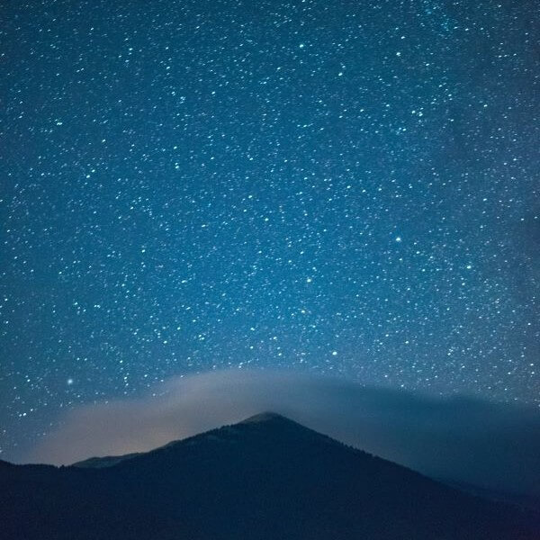 stars above a mountain