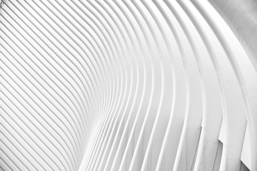 White curved walls